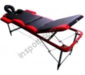 Массажный стол Fitness Master 3-х секционный черно-красный