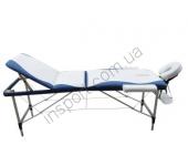 Массажный стол Fitness Master 3-х секционный бело-голубой