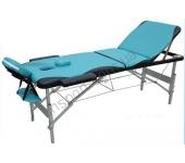 Массажный стол Fitness Master 3-х секционный сине-черный