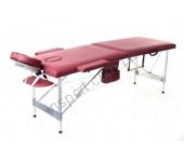 Массажный стол Fitness Master 2-секционный бордовый