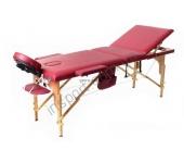 Массажный стол Fitness Master 3-х секционный бордовый