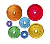 Диск обрезиненный Inter Atletika LCA 1,25 - 25 кг (d 52 мм.)