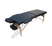 HY-20110 Массажный стол 2-х секционный (дерев.рама) черный