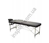 HY-2010-1.3 Массажный стол 2-х секционный (алюмин. рама) черный