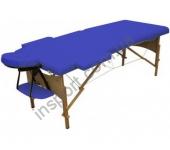 HY-20110-1.2.3 Массажный стол 3-х секционный (дерев. рама) синий