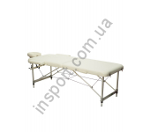 Массажный стол 2-х секционный (алюмин. рама) белый Relax HY-2010-1.3