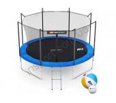 Батут Hop-Sport 10ft (305cm) blue с внутренней сеткой (4 ноги)