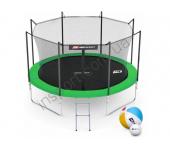 Батут Hop-Sport 10ft (305cm) green с внутренней сеткой (4 ноги)