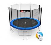 Батут Hop-Sport 10ft (305cm) blue с внешней сеткой (4 ноги)