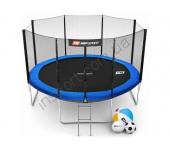 Батут Hop-Sport 12ft (366cm) blue с внешней сеткой
