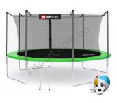 Батут Hop-Sport 14ft (427cm) green с внутренней сеткой