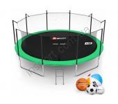 Батут Hop-Sport 16ft (488cm) green с внутренней сеткой
