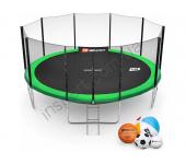 Батут Hop-Sport 16ft (488cm) green с внешней сеткой