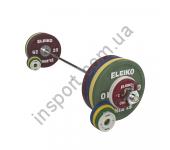 Комплект штанги Eleiko Performance NxG 185 кг жен, цветной 3061135