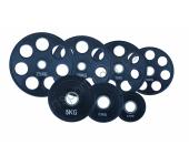Диск олимпийский обрезиненный черный 1,25-25 кг Fitnessport RCP18