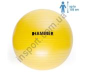 66406 Фитбол (мяч для фитнеса) Hammer Gymnastics Ball 55 cm Anti-Burst System (антиразрыв)