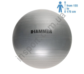 66407 Фитбол (мяч для фитнеса) Hammer Gymnastics Ball 65 cm Anti-Burst System (антиразрыв)