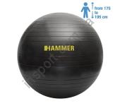 66408 Фитбол (мяч для фитнеса) Hammer Gymnastics Ball 75 cm Anti-Burst System (антиразрыв)