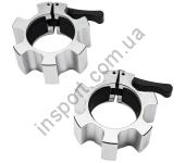 4703 Замки для грифа быстросъемные Hammer Olympic Lock Jaw Collars (алюминиевые)